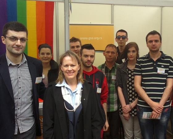 Mary Warlick and Antje Rothemund visit GSA stand at CSO Fair