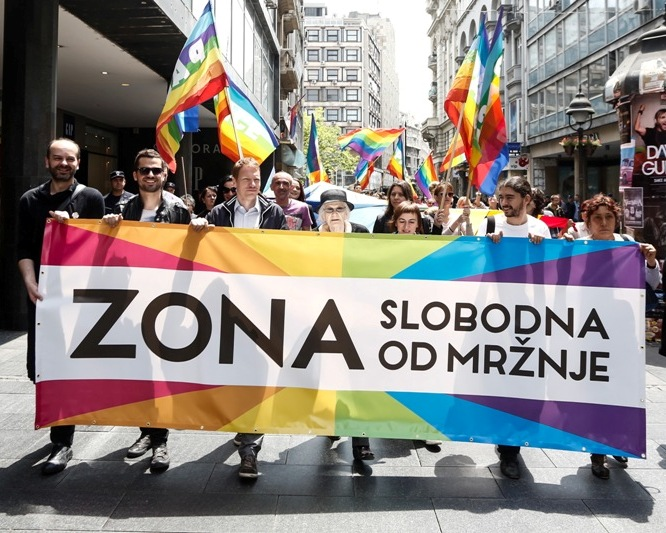 "27th June – Pride Day – Marked by the Action ""Hate-Free Zone"" and a Walk in Downtown Belgrade"