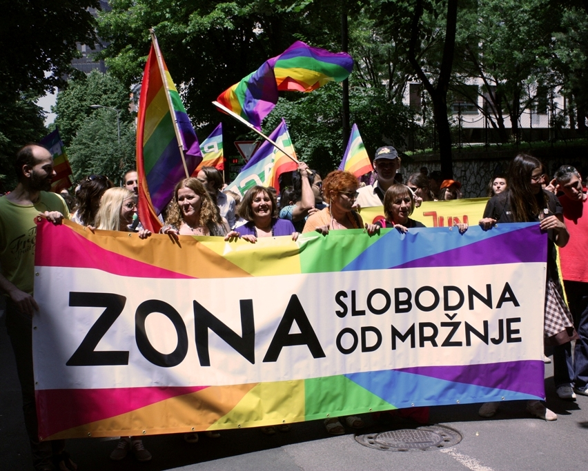 "International Pride Day marked with action ""Hate-Free Zone"" in Belgrade"